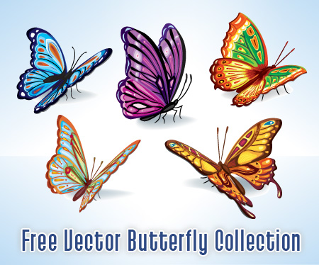 Butterfly Free Vectors Set