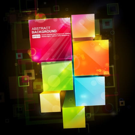 Free Vector Abstract Cubes