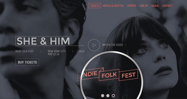 Psd Festival Event Website Template