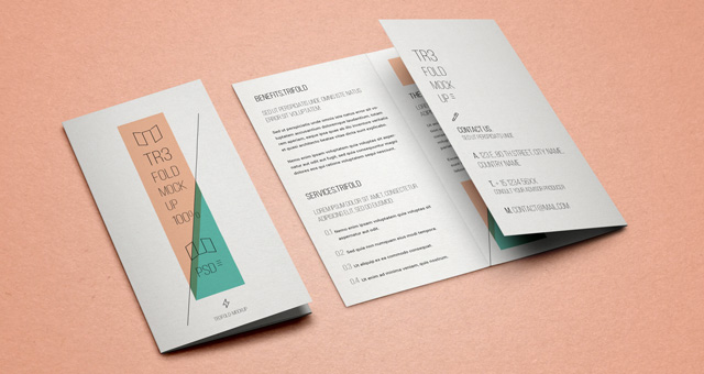 psd tri fold mockup template free download