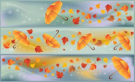 Free Autumn Umbrella Vector