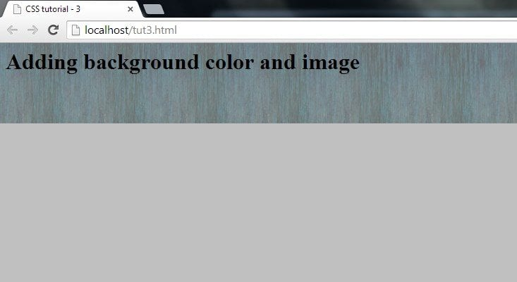 How to Add Background Color and Image in CSS