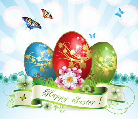 Free Happy Easter Vector