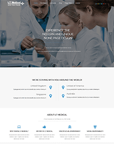 LT Medical – Free Responsive Hospital / Medical WordPress theme