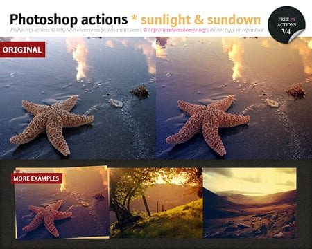 Free Photoshop Sunlight Actions