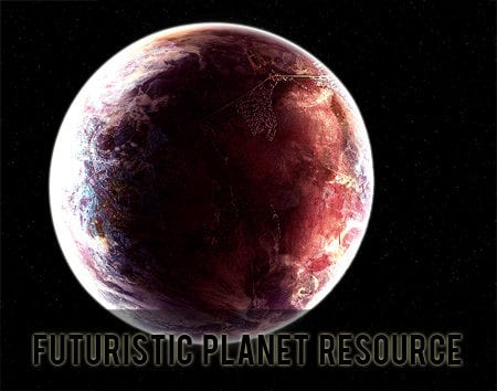 Free Futuristic Planet Resource PSD