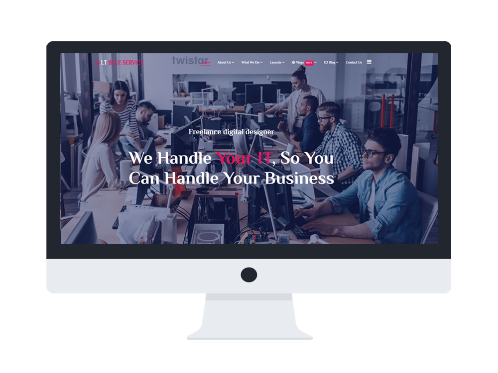Free IT company joomla website template
