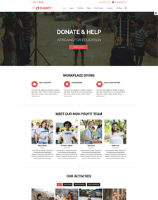 LT Charity Onepage – Free One Page Responsive Non-Profit, Charity Joomla template