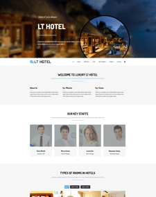 LT Hotel – Free Responsive Hotel / Resort WordPress theme