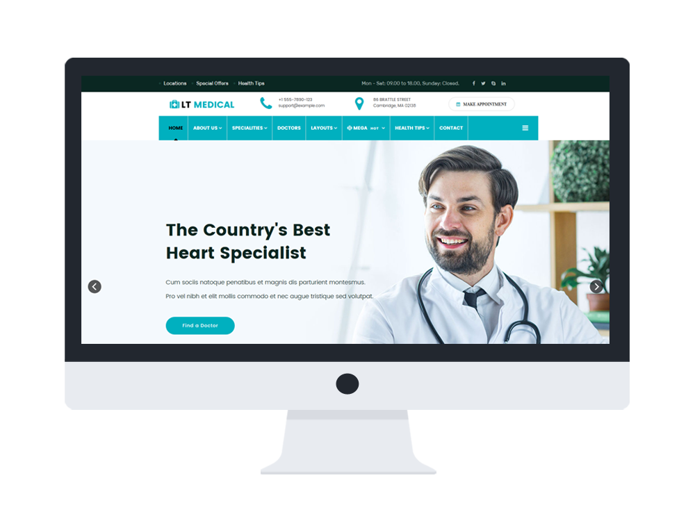 medical joomla template free