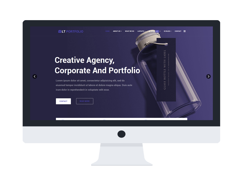 Portfolio joomla website templates