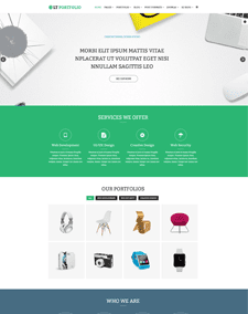 LT Portfolio – Free Responsive Product Showcase / Portfolio WordPress theme