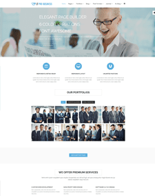 LT Pro Business Onepage– Free Responsive Corporation / Pro Business Onepage WordPress theme