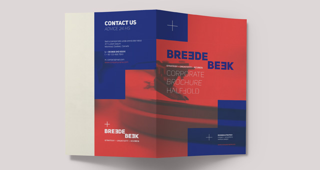 Breede Bi Fold Brochure Template