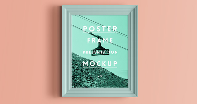 psd poster frame mockup