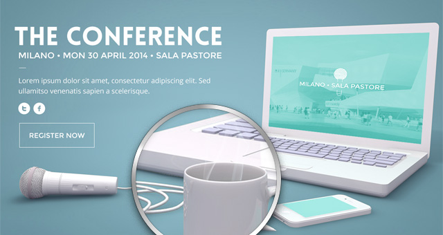 Psd Conference Website Template - Responsive Joomla and Wordpress themes