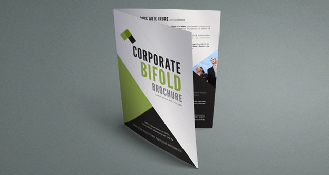 Corporate bi fold brochure template for Two page brochure template