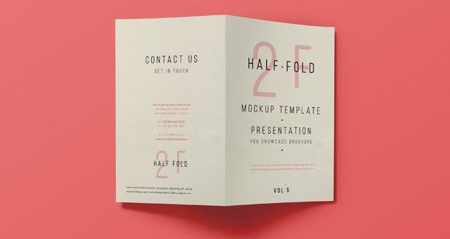 psd bi fold mockup template vol5