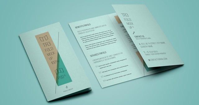 psd tri fold mockup template vol5