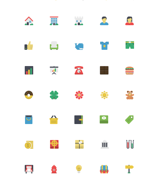 Flatlicious: 80 Free Icons Download