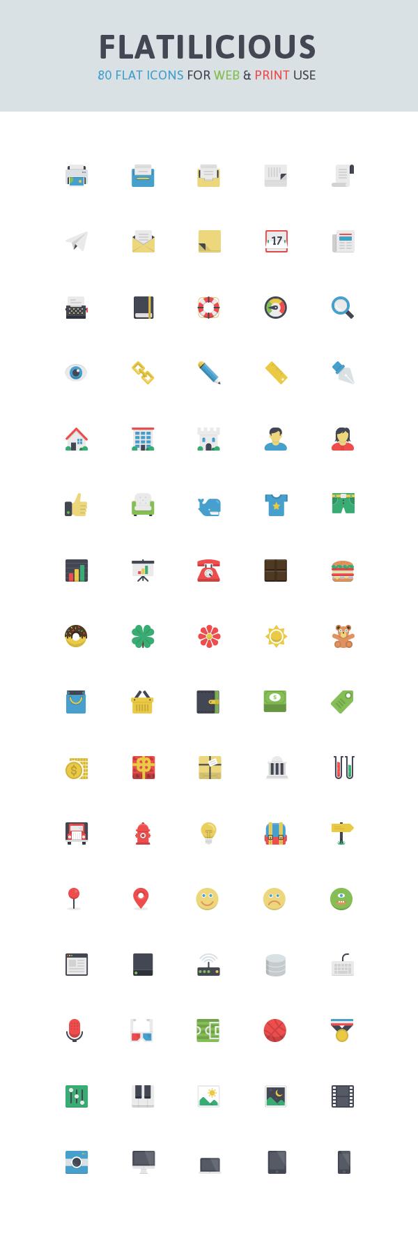 80 Free Icons