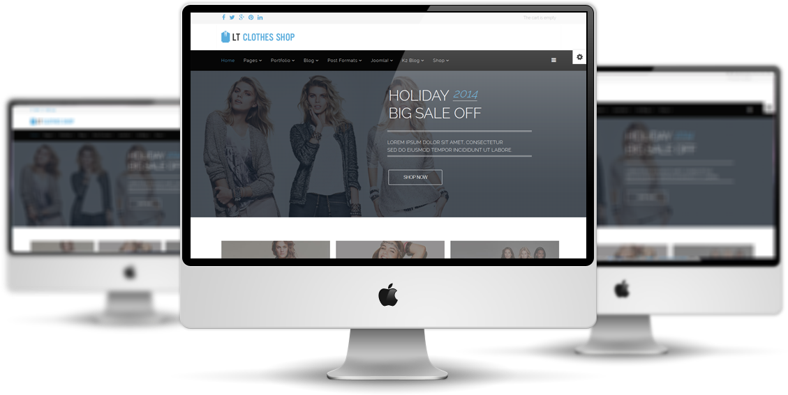 LT Clothes Shop Joomla! template