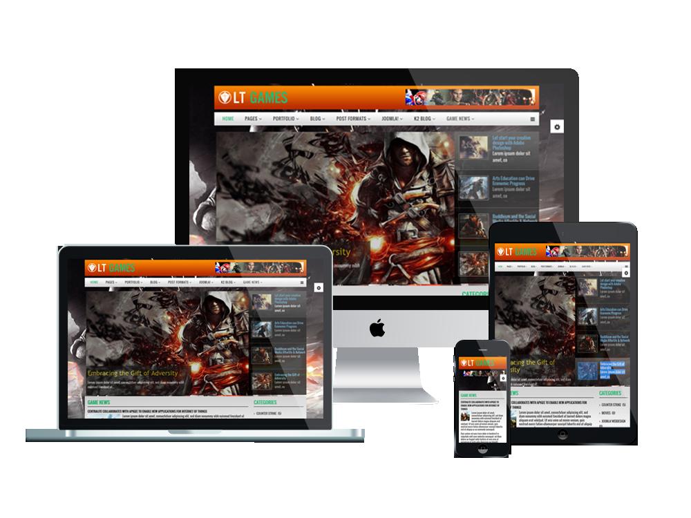 news games joomla template responsive joomla and wordpress themes