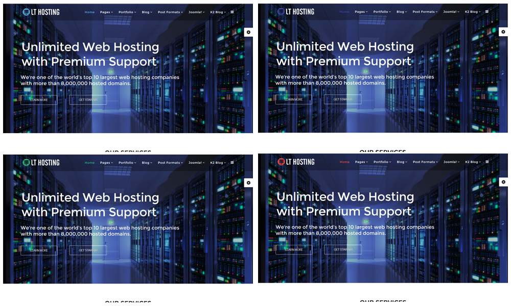 LT Hosting Onepage – Free One Page Responsive Web Hosting Joomla ...