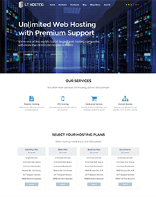 LT Hosting – Free Responsive Domain / Hosting WordPress theme
