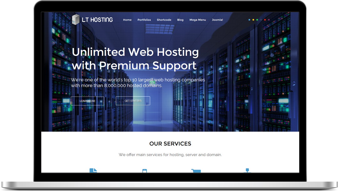 Free Responsive Domain / Hosting WordPress theme