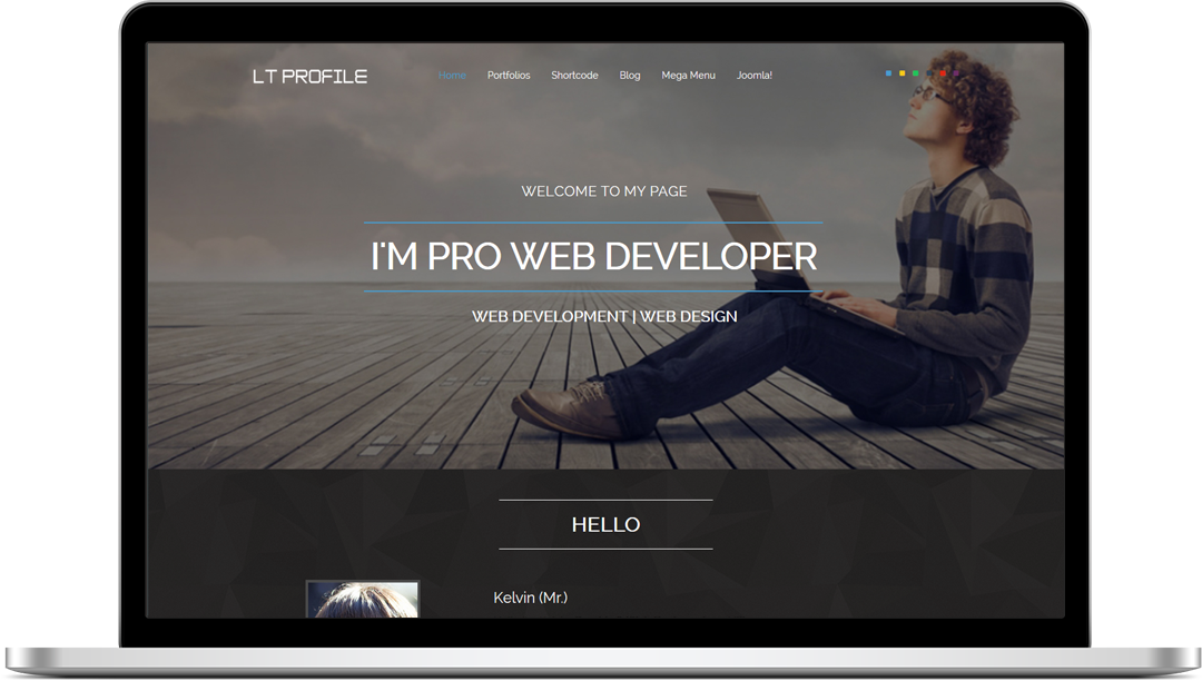 lt profile  u2013 free one page responsive resume  cv  profile