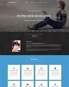 LT Profile – Free Joomla Profile template