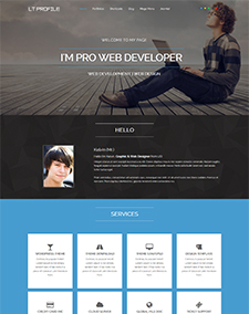 LT Profile Onepage – Free One Page Responsive Resume, CV, Profile Joomla template