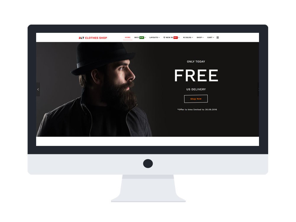 free online shopping Joomla template