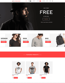 LT Clothes Shop – Free Online Shopping J2Store Joomla template