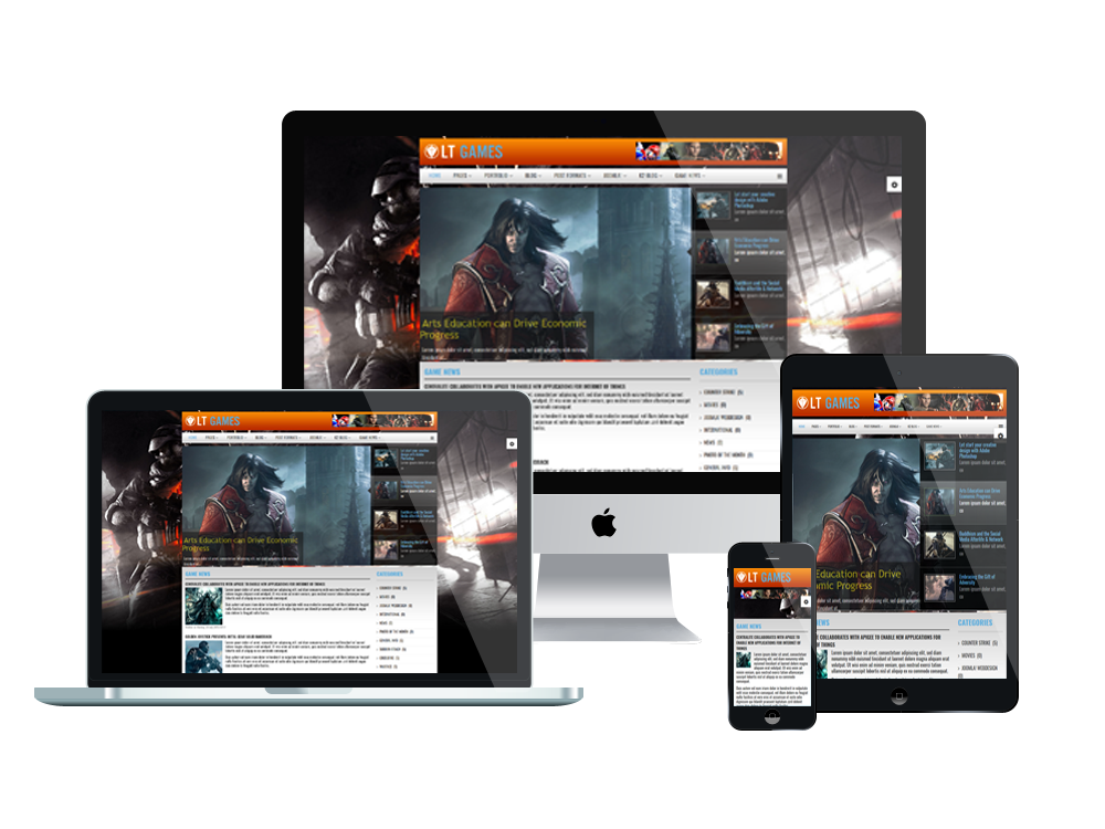lt games free joomla gaming template