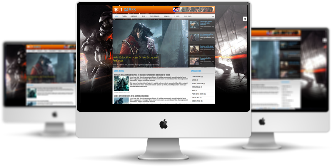 LT Games - Free Joomla Gaming template