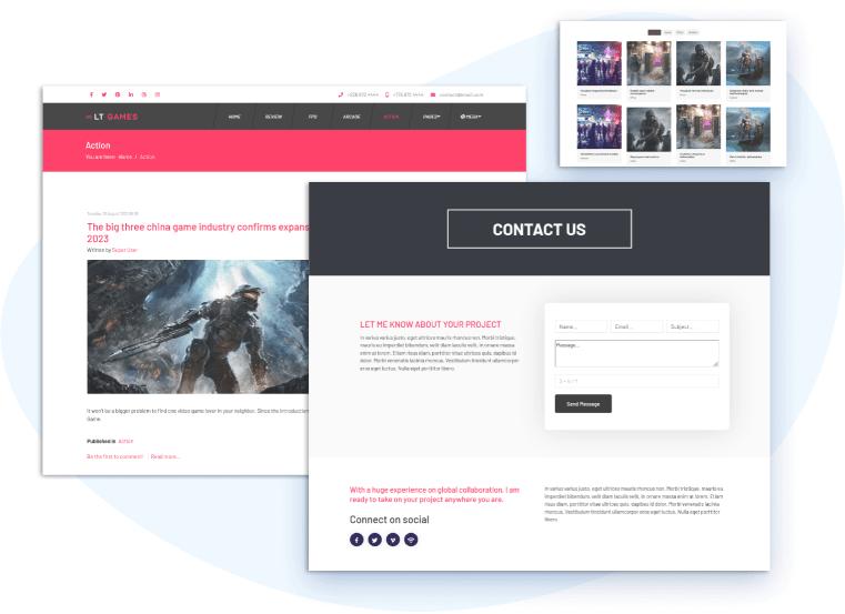 lt-gaming-responsive-joomla-template-contact