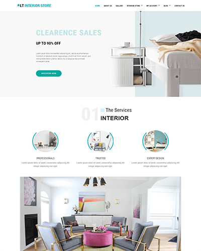 LT Interior Store – Free responsive wordpress interior design theme