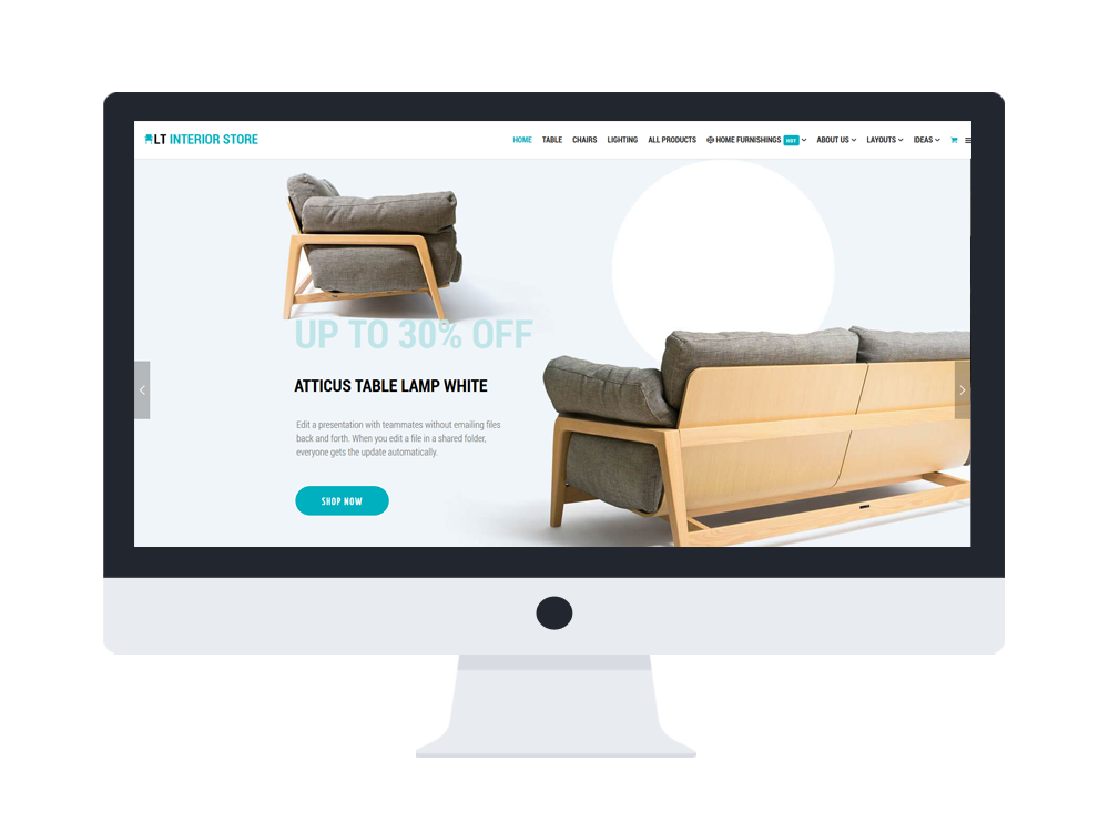 Free joomla online furniture shop template