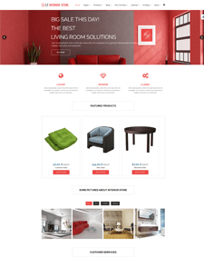 LT Interior Store – Free Architecture, Interior Store Joomla template based on Hikashop