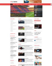 LT News – Responsive Joomla News template