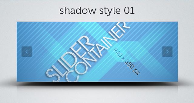 Web Slider Psd Shadows
