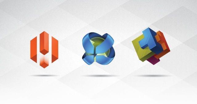 3D Logo Templates Set Vol 1