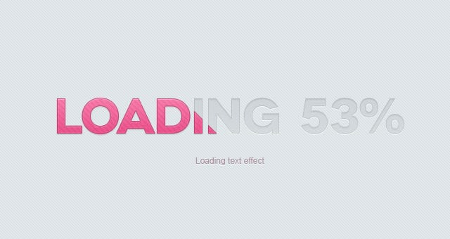Loading Psd Text Effect