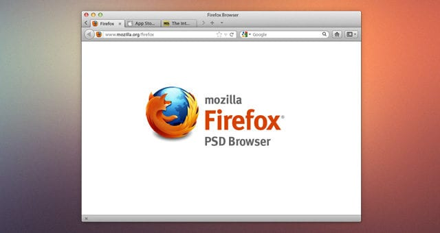 Firefox Browser Psd Mockup