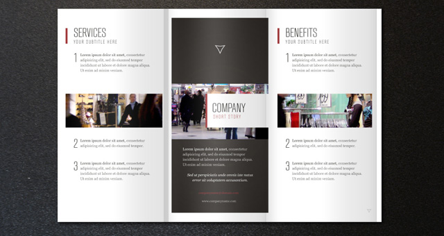 Corporate tri fold brochure template 2 for Tri fold brochure template download