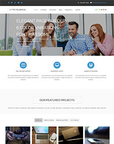 LT Pro Business – Free One Page Responsive Corporation / Business Joomla template