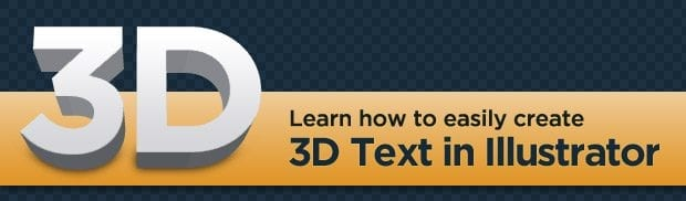 Creating Easy 3D Text in Illustrator