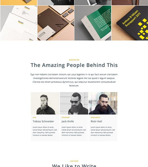 Elegant – Free HTML / PSD Template